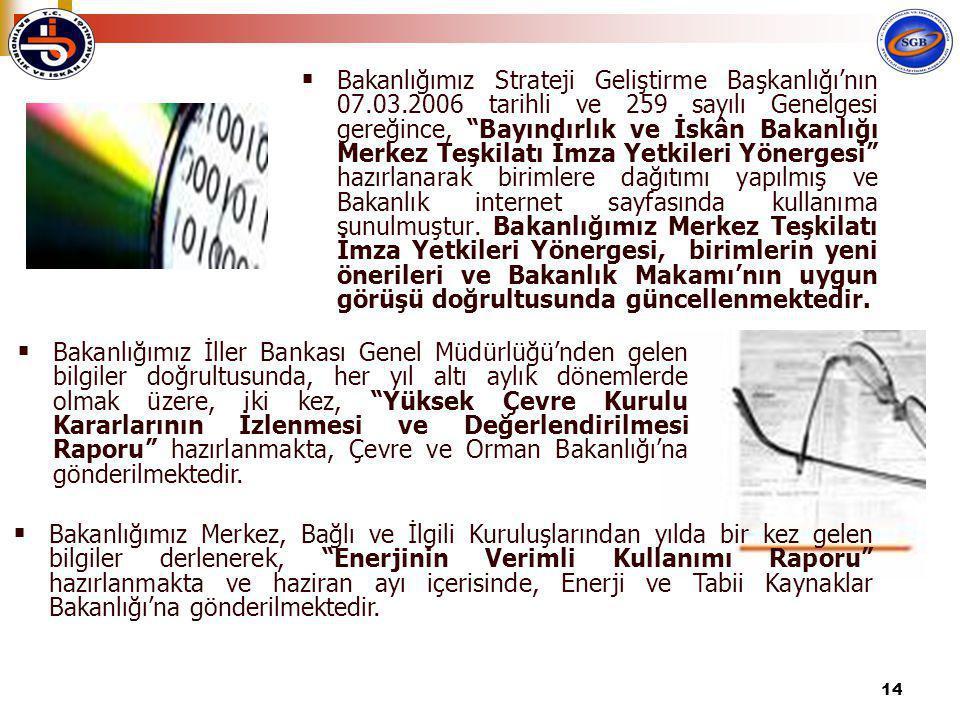Bakanlığımız Strateji Geliştirme Başkanlığı'nın 07. 03