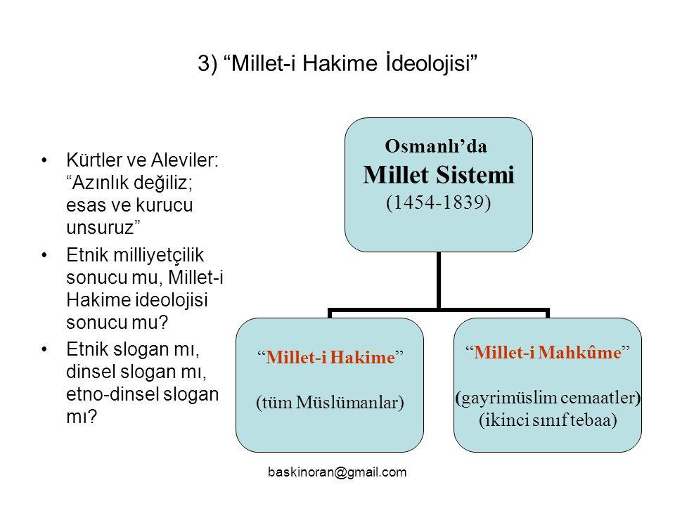 3) Millet-i Hakime İdeolojisi