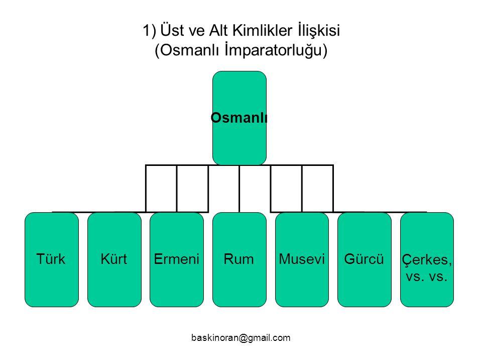 Üst ve Alt Kimlikler İlişkisi (Osmanlı İmparatorluğu)