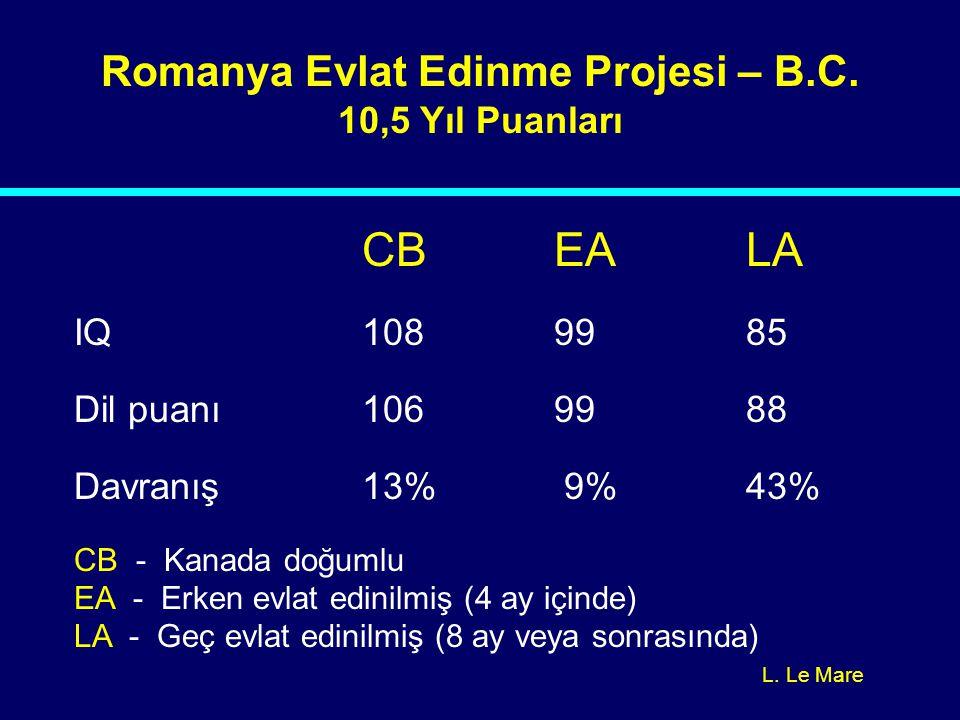 Romanya Evlat Edinme Projesi – B.C.
