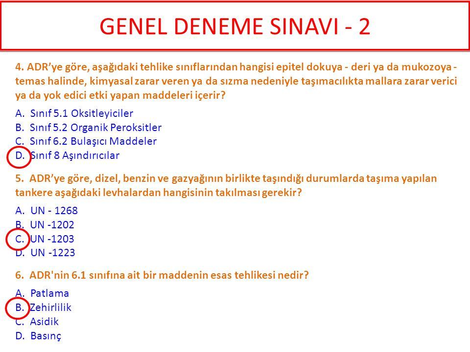 GENEL DENEME SINAVI - 2