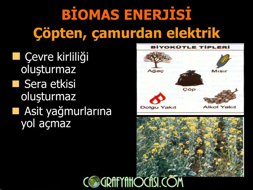 BİOMAS ENERJİSİ Çöpten, çamurdan elektrik