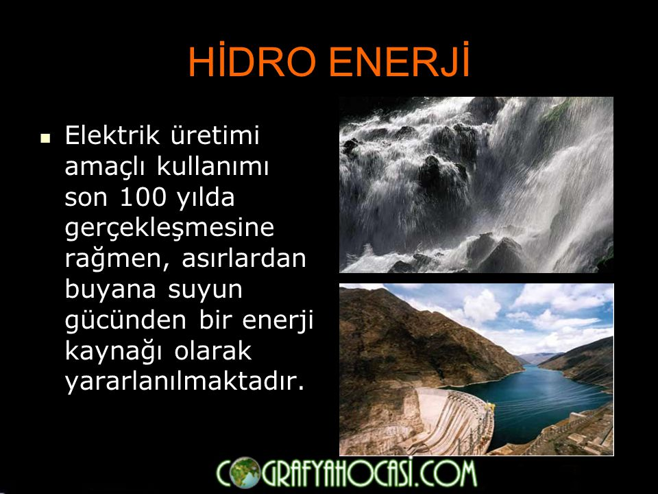 HİDRO ENERJİ