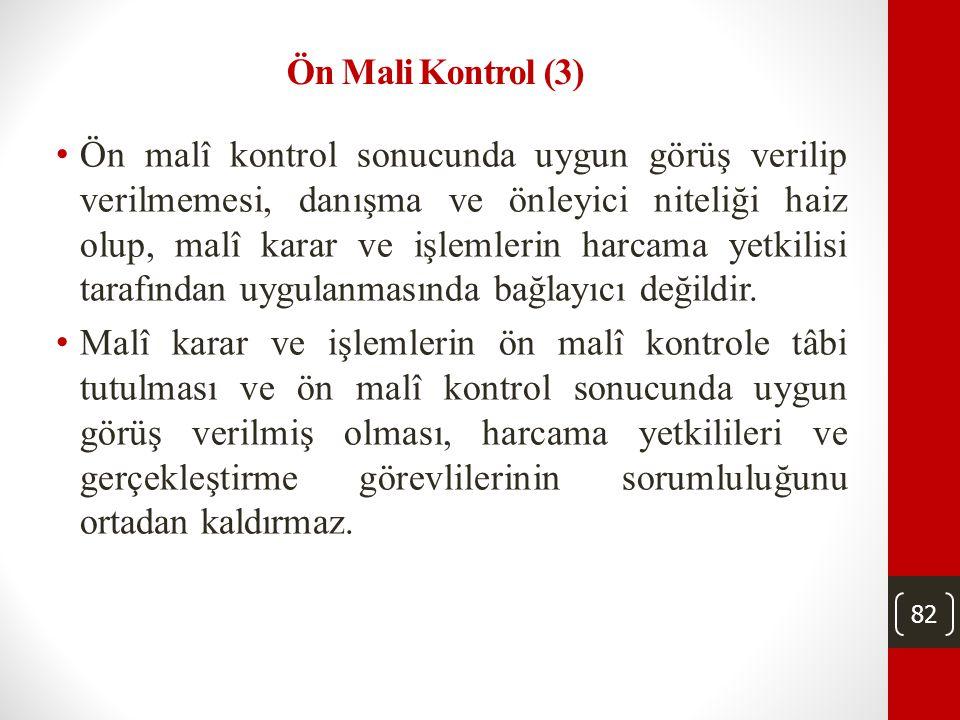 Ön Mali Kontrol (3)