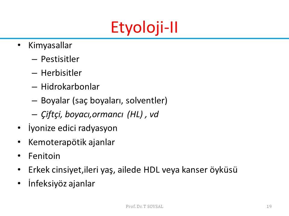 Etyoloji-II Kimyasallar Pestisitler Herbisitler Hidrokarbonlar