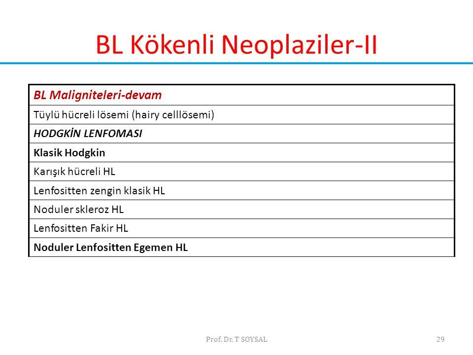BL Kökenli Neoplaziler-II