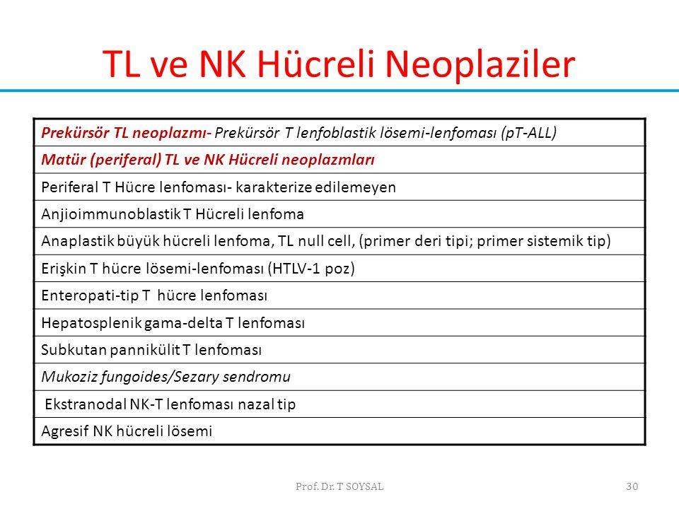 TL ve NK Hücreli Neoplaziler