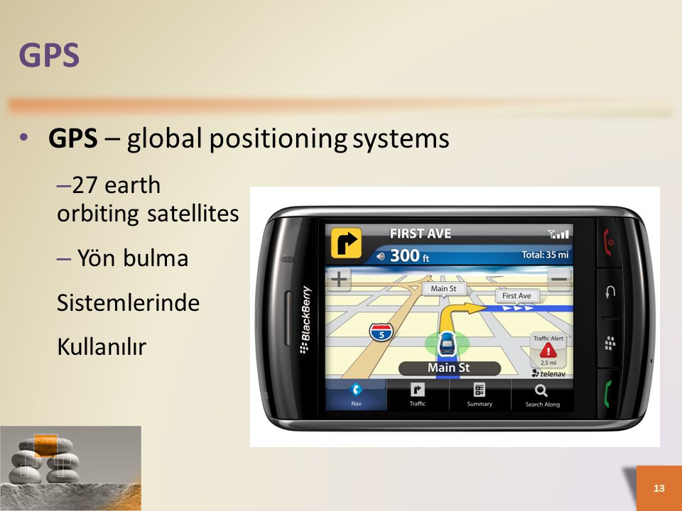 GPS GPS – global positioning systems 27 earth orbiting satellites