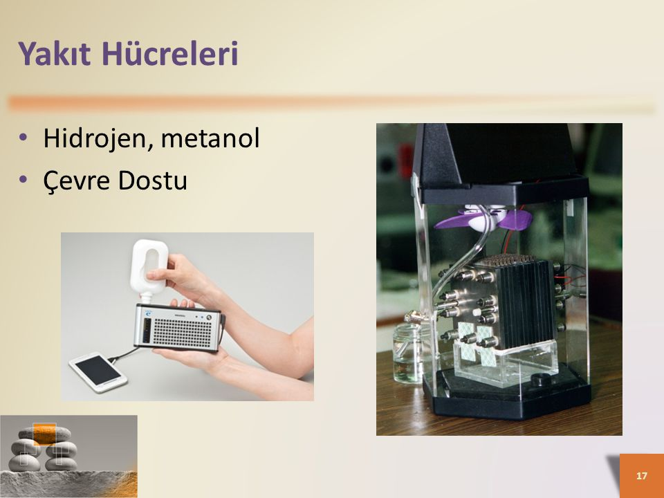 Yakıt Hücreleri Hidrojen, metanol Çevre Dostu