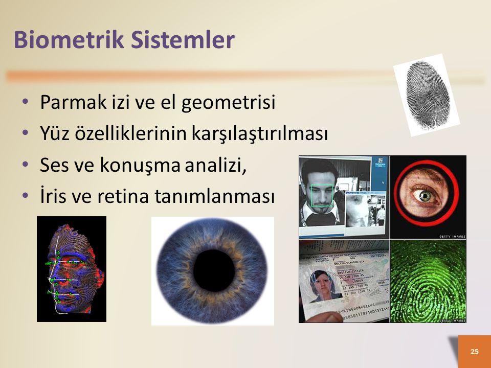 Biometrik Sistemler Parmak izi ve el geometrisi
