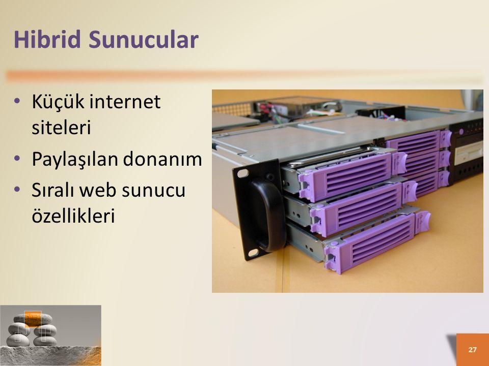 Hibrid Sunucular Küçük internet siteleri Paylaşılan donanım