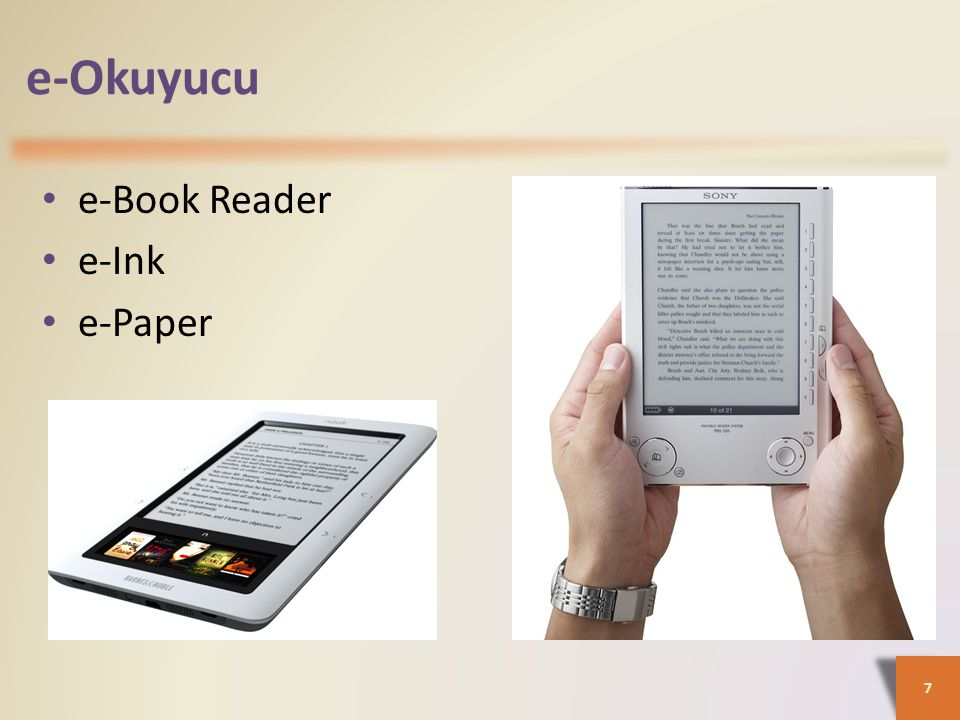 e-Okuyucu e-Book Reader e-Ink e-Paper