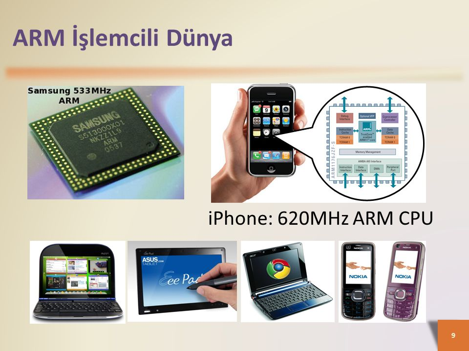 ARM İşlemcili Dünya iPhone: 620MHz ARM CPU