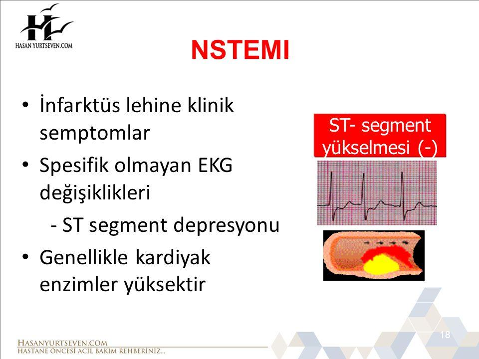 ST- segment yükselmesi (-)