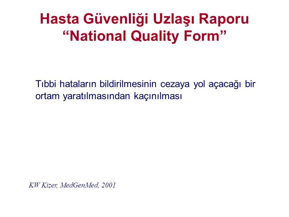 Hasta Güvenliği Uzlaşı Raporu National Quality Form