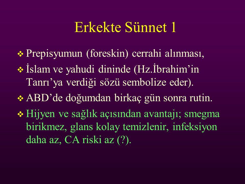 Erkekte Sünnet 1 Prepisyumun (foreskin) cerrahi alınması,