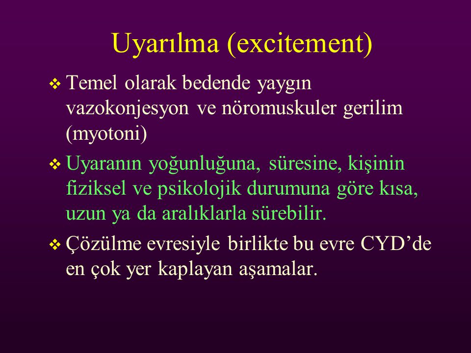 Uyarılma (excitement)