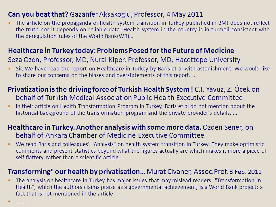 Can you beat that Gazanfer Aksakoglu, Professor, 4 May 2011