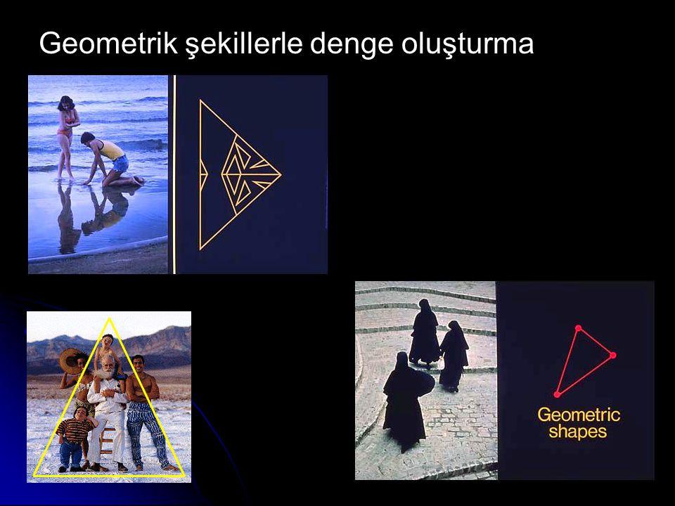 Geometrik şekillerle denge oluşturma
