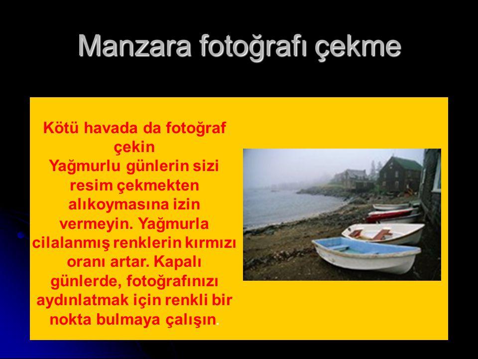 Manzara fotoğrafı çekme