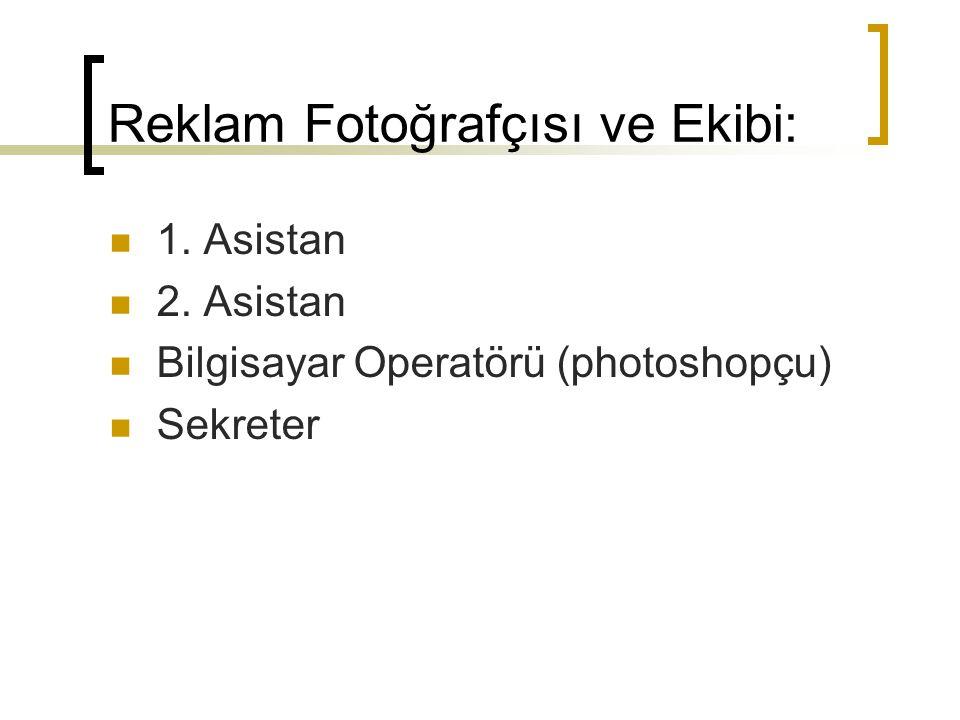 Reklam Fotoğrafçısı ve Ekibi: