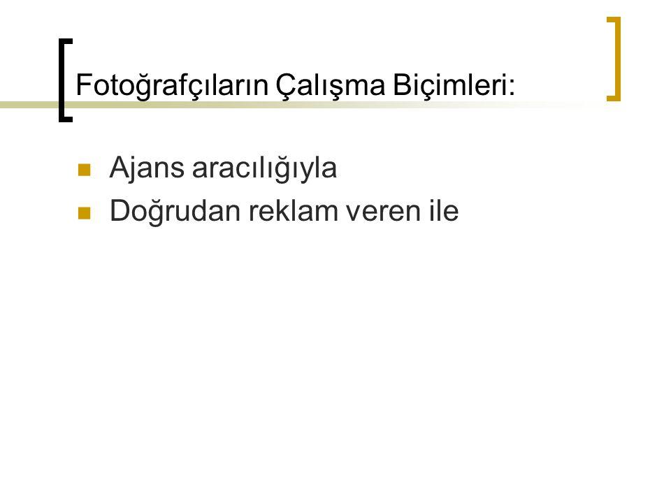 Fotoğrafçıların Çalışma Biçimleri: