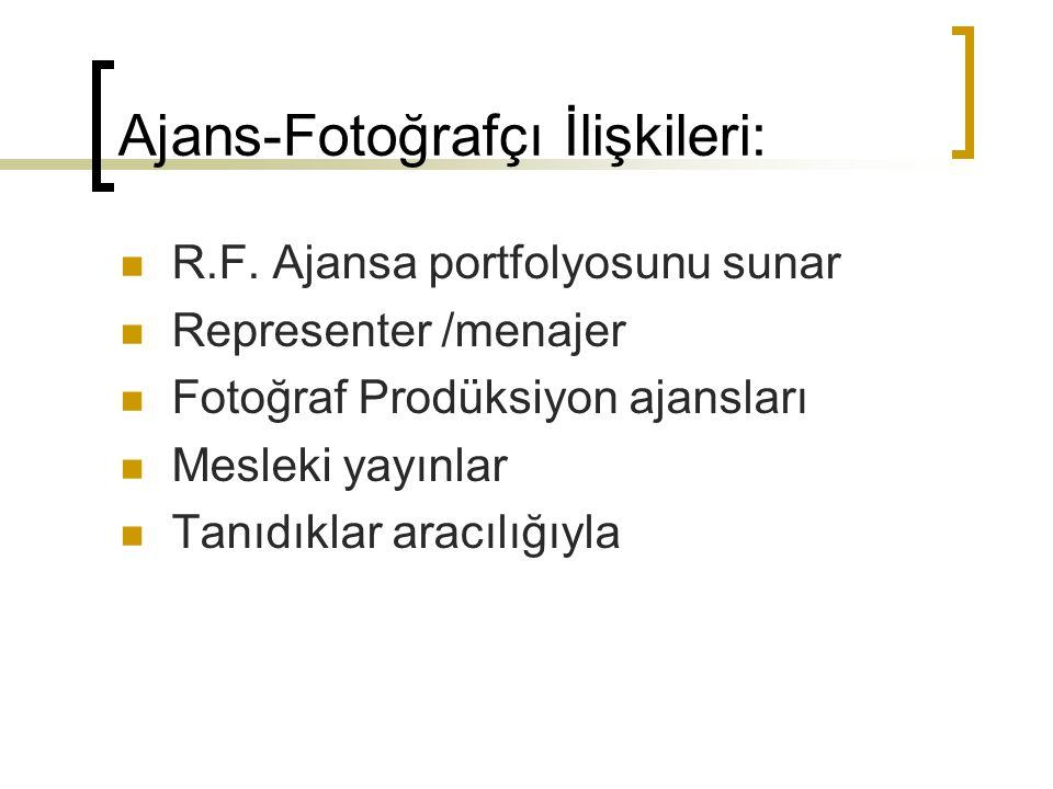 Ajans-Fotoğrafçı İlişkileri: