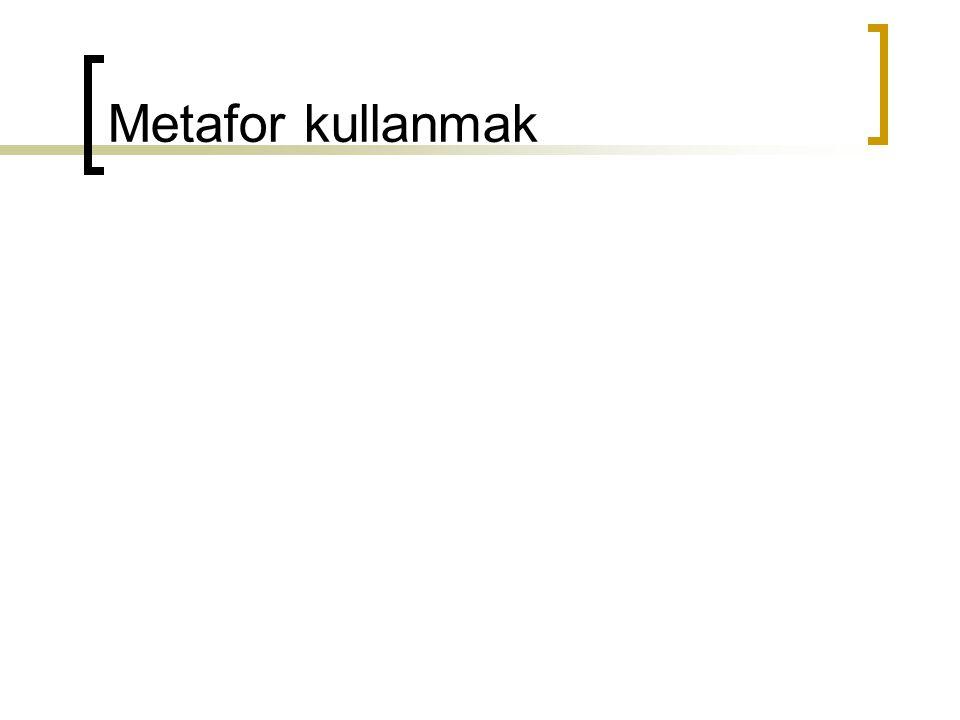 Metafor kullanmak