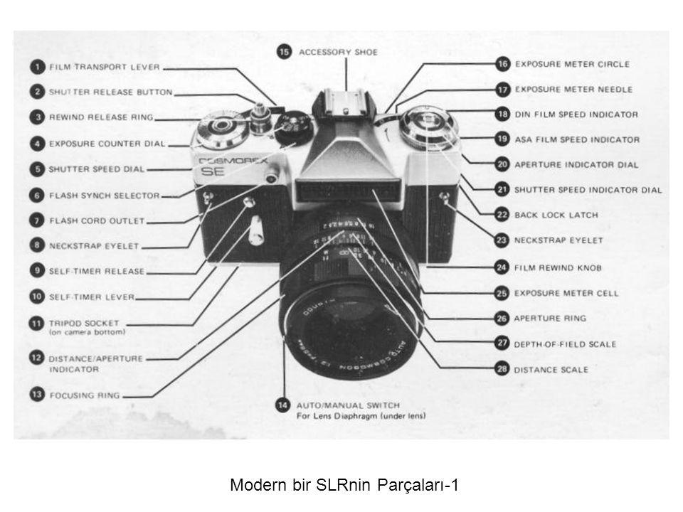 Modern bir SLRnin Parçaları-1