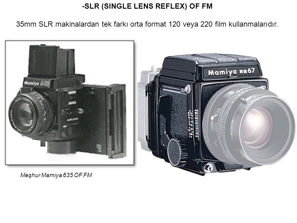 -SLR (SINGLE LENS REFLEX) OF FM