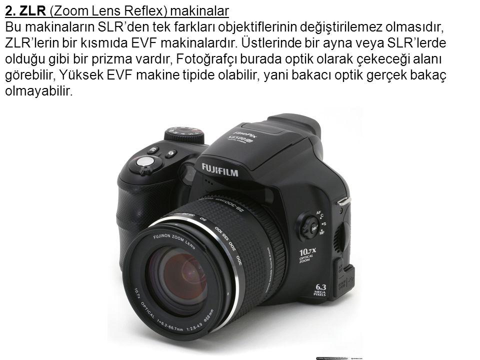 2. ZLR (Zoom Lens Reflex) makinalar