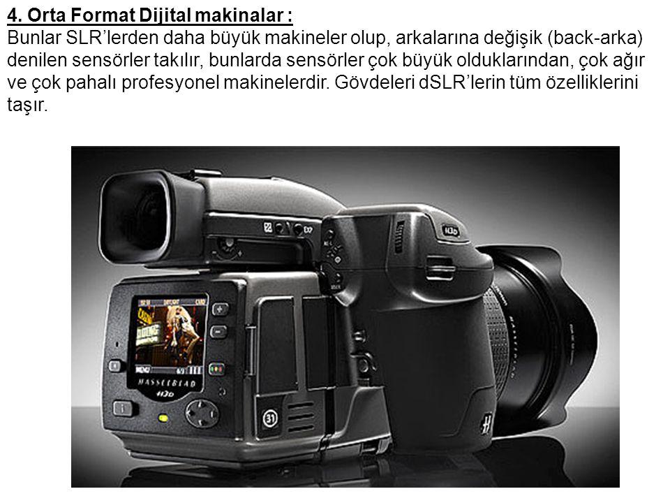 4. Orta Format Dijital makinalar :