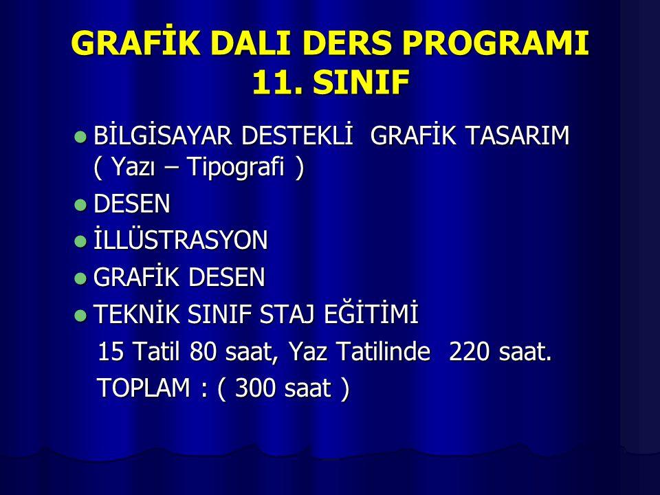 GRAFİK DALI DERS PROGRAMI 11. SINIF