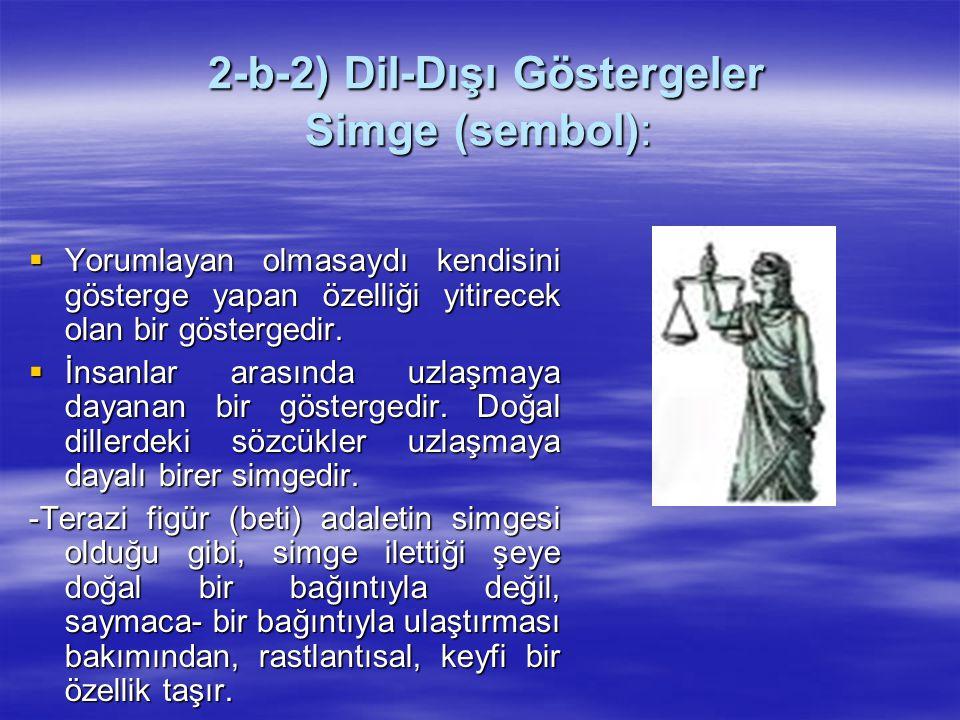 2-b-2) Dil-Dışı Göstergeler Simge (sembol):
