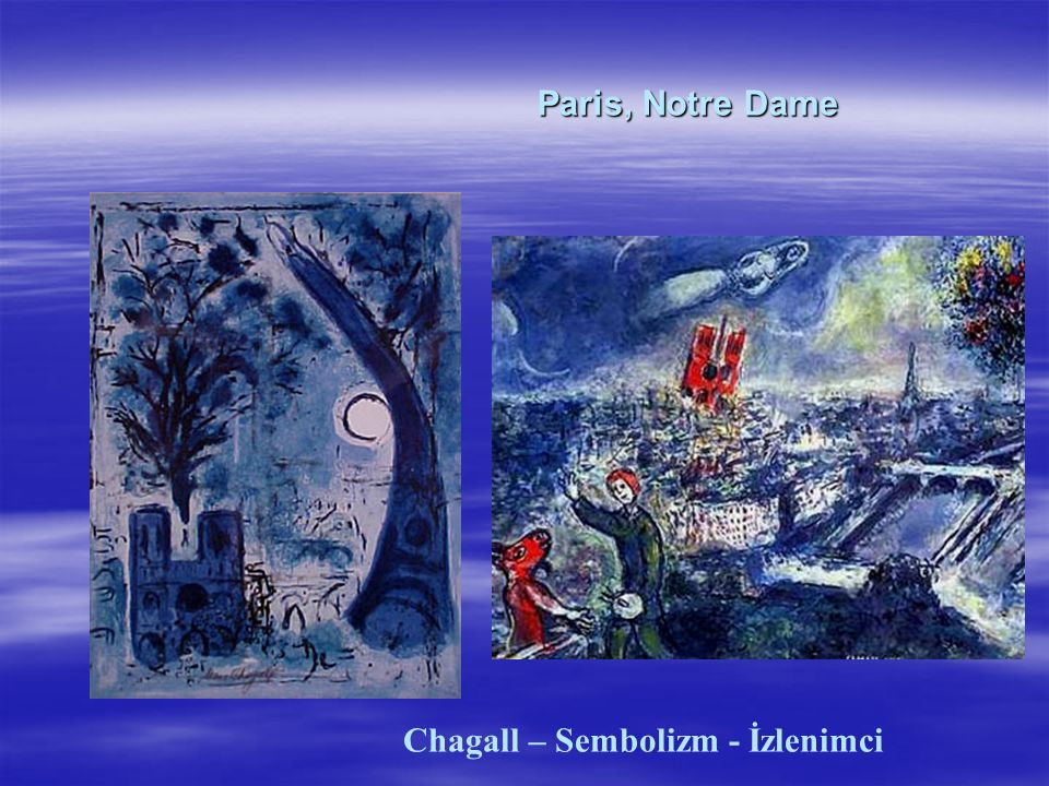 Chagall – Sembolizm - İzlenimci