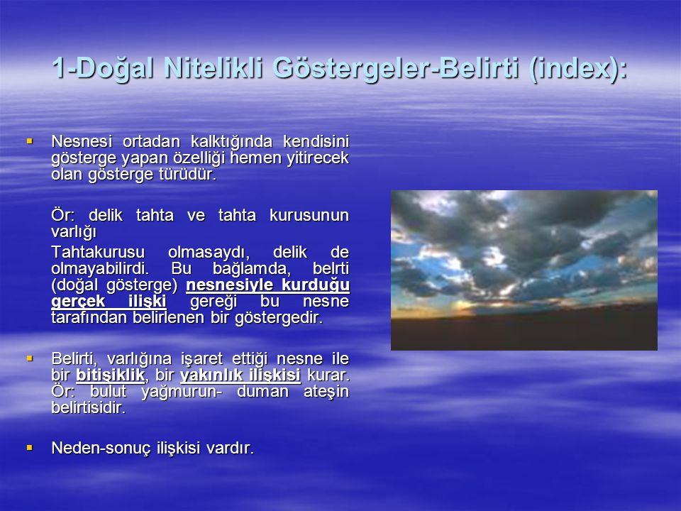 1-Doğal Nitelikli Göstergeler-Belirti (index):