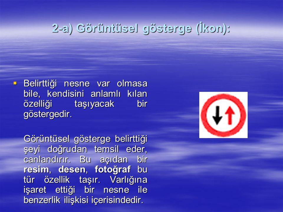 2-a) Görüntüsel gösterge (İkon):