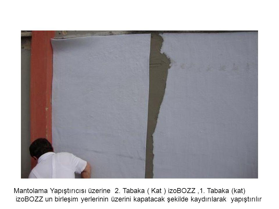 Mantolama Yapıştırıcısı üzerine 2. Tabaka ( Kat ) izoBOZZ ,1