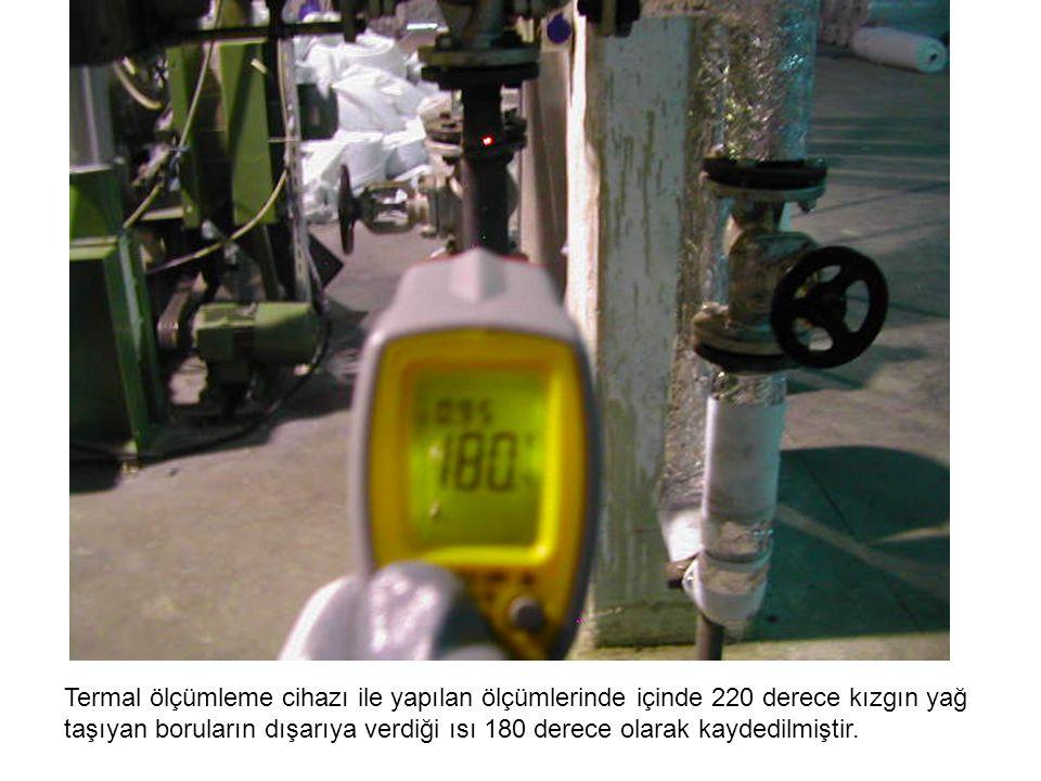 Termal ölçümleme cihazı ile yapılan ölçümlerinde içinde 220 derece kızgın yağ
