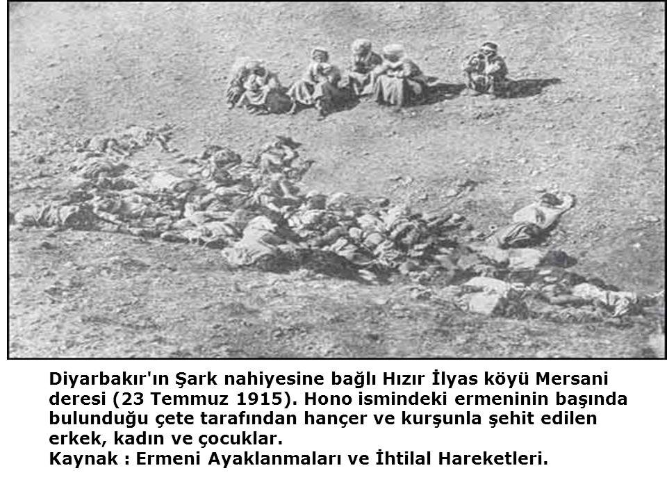 Diyarbakır ın Şark nahiyesine bağlı Hızır İlyas köyü Mersani deresi (23 Temmuz 1915).