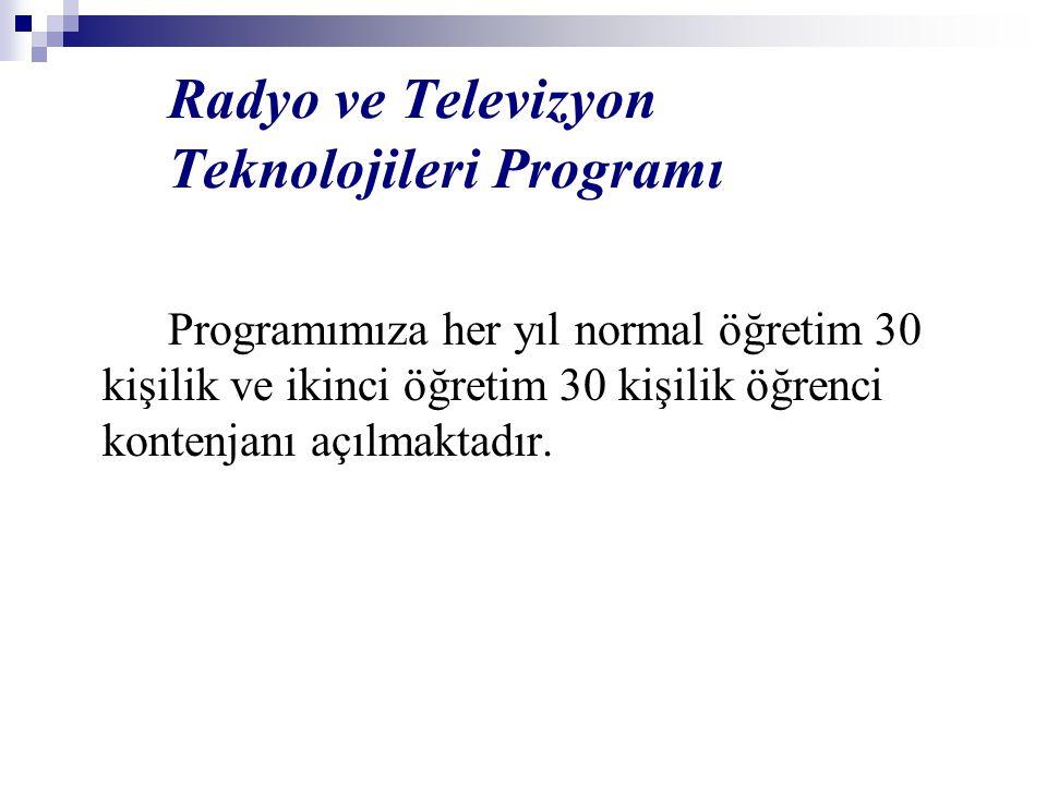 Radyo ve Televizyon Teknolojileri Programı