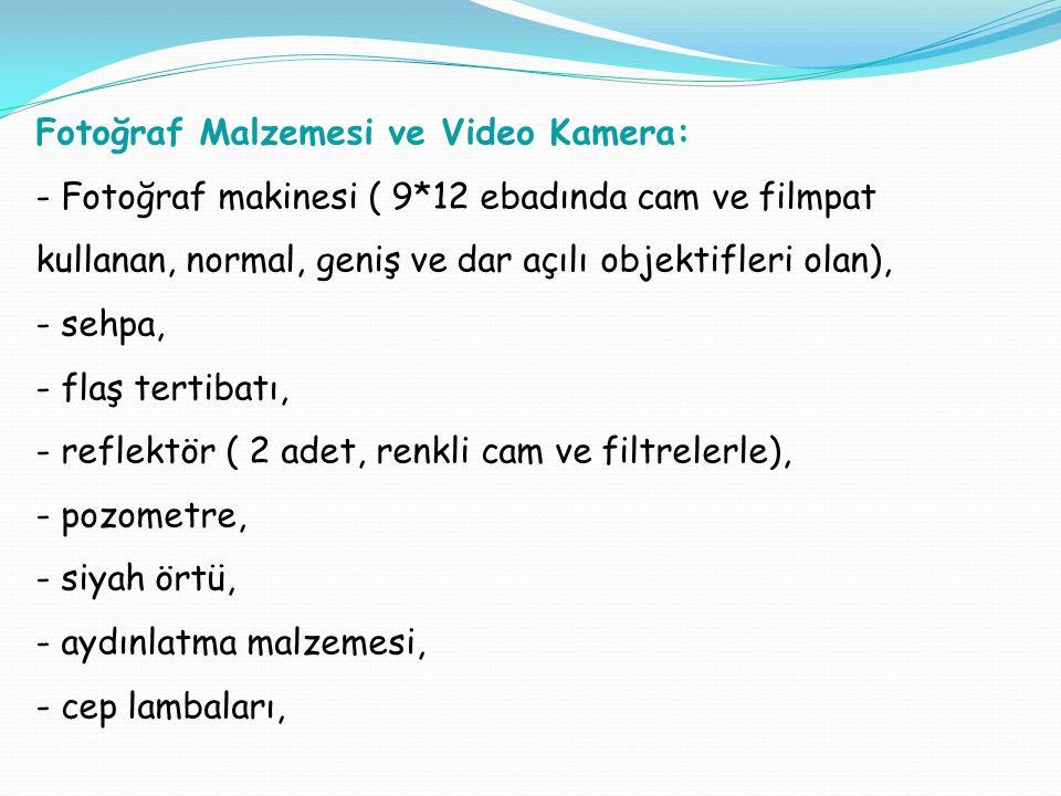 Fotoğraf Malzemesi ve Video Kamera: