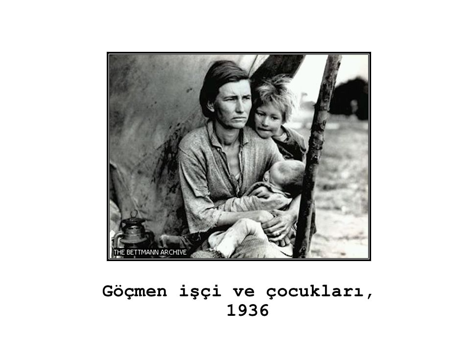 Göçmen işçi ve çocukları, 1936