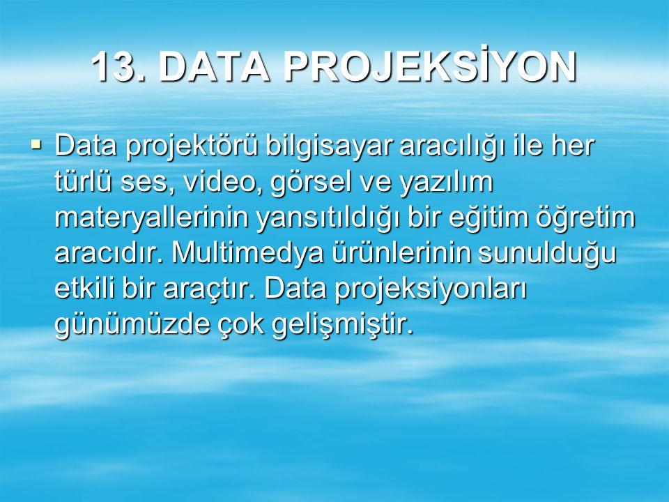 13. DATA PROJEKSİYON