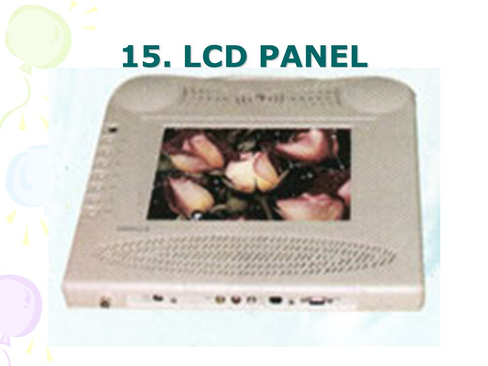 15. LCD PANEL