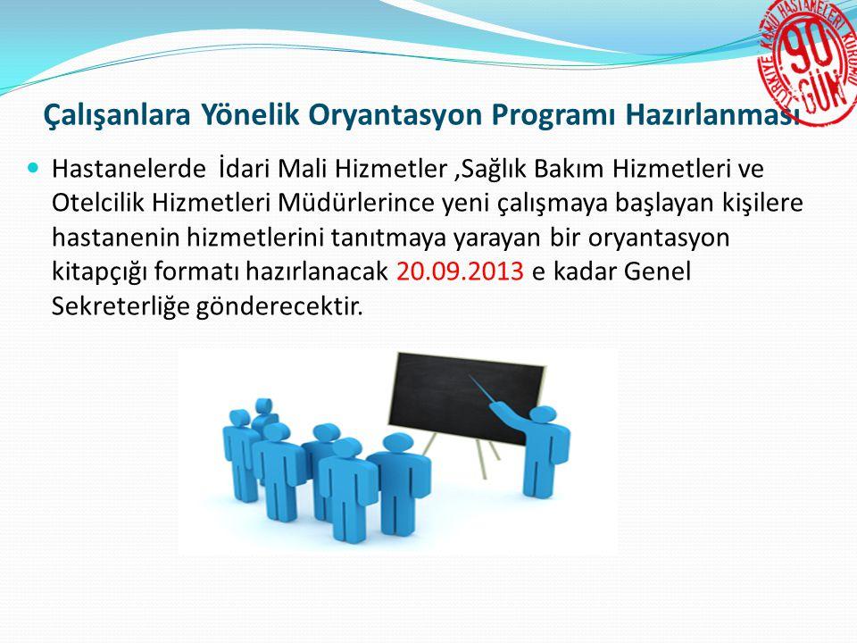 Çalışanlara Yönelik Oryantasyon Programı Hazırlanması