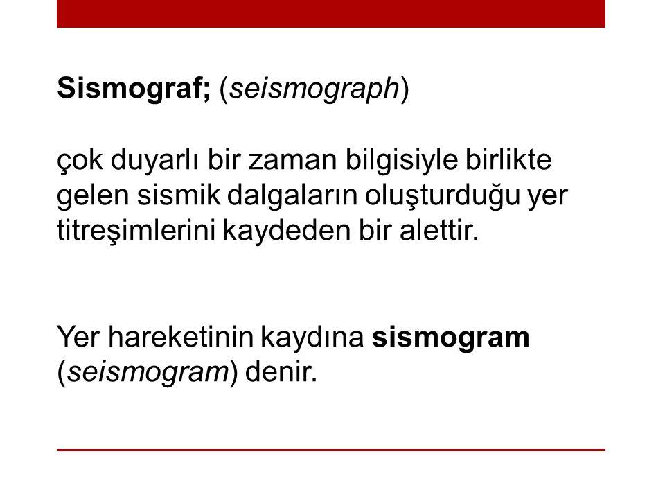 Sismograf; (seismograph)