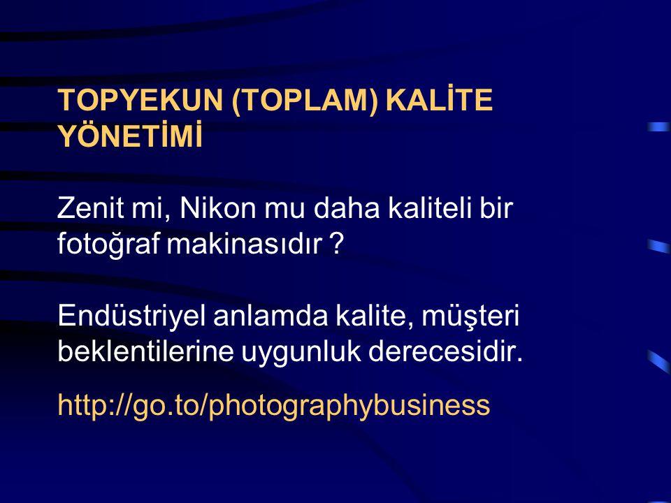 TOPYEKUN (TOPLAM) KALİTE YÖNETİMİ Zenit mi, Nikon mu daha kaliteli bir fotoğraf makinasıdır .