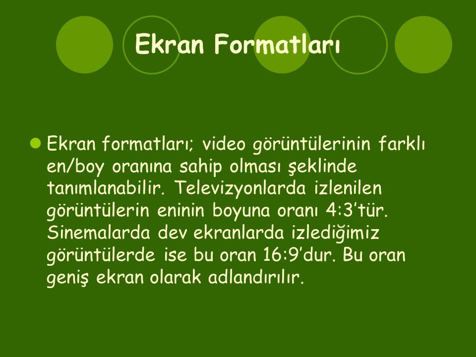 Ekran Formatları