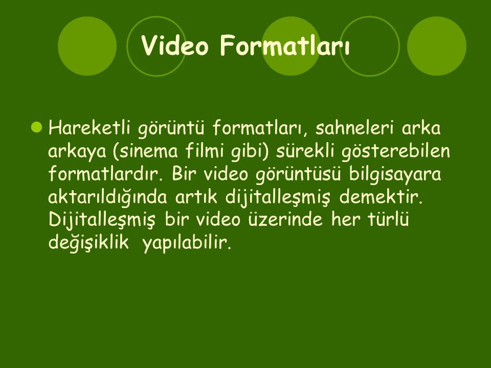 Video Formatları